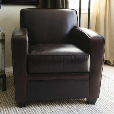 Dexter Top Grain Leather Club Chair