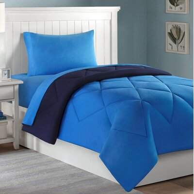 Dorm Room 10 Piece Bed-In-A-Bag Set Color: Navy and Royal