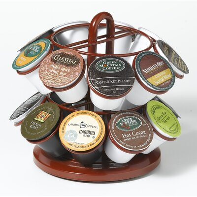 Mini Carousel for K Cups Powder Coated Red