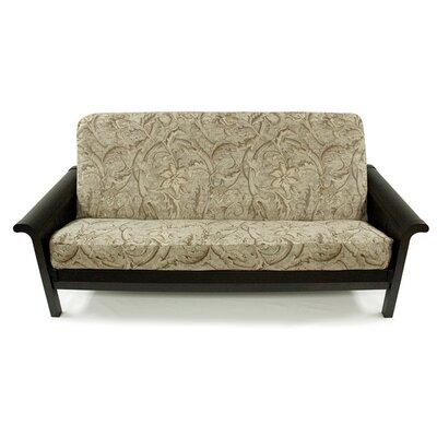 Floral Chenille Box Cushion Futon Slipcover