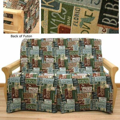 Road Trip Box Cushion Futon Slipcover