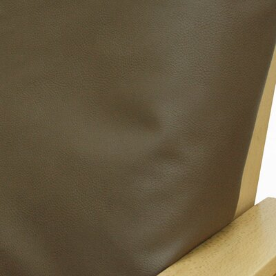 Pecan Faux Leather Futon Slipcover