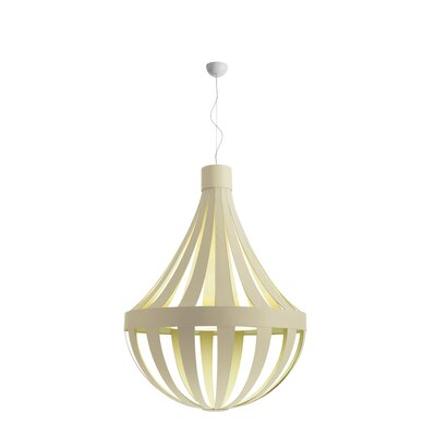 Anadem 6 Light Pendant Shade Color: Ivory White, Bulb Type: Incandescent