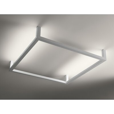 Framework M 2-Light Flush Mount Size: 8.8 H x 50 H x 50 D