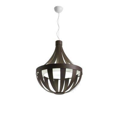 Anadem 4-Light Pendant Shade Color: Brown-White, Bulb Type: Fluorescent