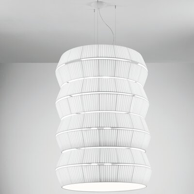Layers H 9-Light Pendant Shade Color: Red