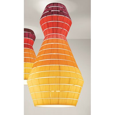 Layers B 15-Light Flush Mount Shade Color: Brick Red