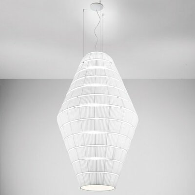 Layers D 9-Light Pendant Shade Color: Red