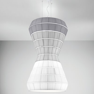 Layers F 9-Light Pendant Shade Color: Red