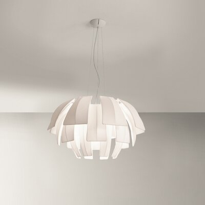 Plumage 3-Light Pendant Shade Color: Fuchsia