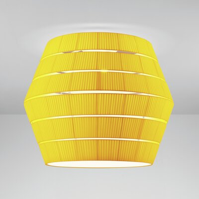 Layers G 3-Light Flush Mount Shade Color: Orange