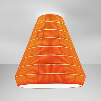 Layers E 9-Light Flush Mount Shade Color: Orange