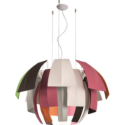 Plumage 6-Light Pendant Shade Color: Multicolour, Size: 29.38 H x 47.25 W x 47.25 D