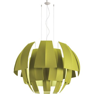 Plumage 6-Light Pendant Shade Color: Light Green, Size: 29.38 H x 47.25 W x 47.25 D