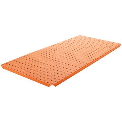 Powder Coated Metal Pegboard Panels with Flange in Orange