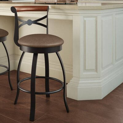 Library Luxe Style 25.75 Swivel Bar Stool