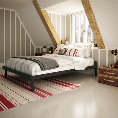 Attic Platform Bed Size: Queen, Color: Textured Dark Brown