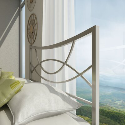Equinox Open-Frame Headboard Size: Full, Color: Matte Light Grey