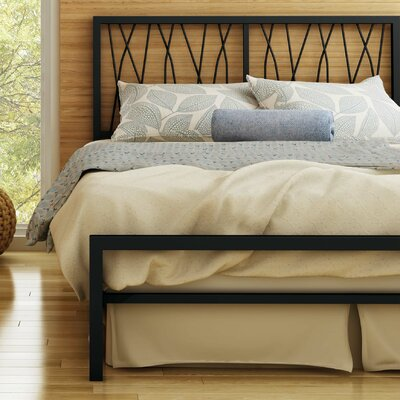 Ivy Platform Bed Size: Queen, Color: Textured Black