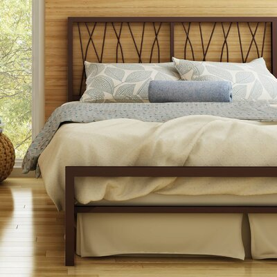Ivy Platform Bed Size: Full, Color: Matte Medium Brown