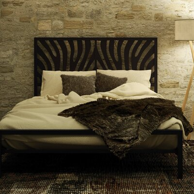 Zebra Platform Bed Finish: Textured Black, Size: Queen