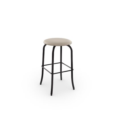 Flare 26 Swivel Bar Stool Finish: Textured Dark Brown/Beige