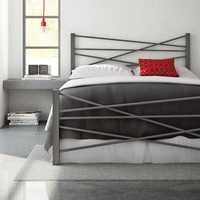 Crosston Bed Size: Full, Finish: Glossy Grey