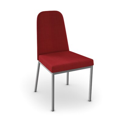 Spoon Side Chair Upholstery: Glossy Grey/Red