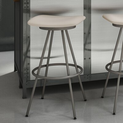 Beacon 30 Swivel Bar Stool Finish: Matte Light Grey/Beige