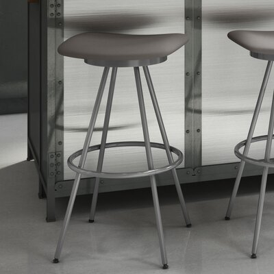 Beacon 30 Swivel Bar Stool Finish: Glossy Grey/Cold Grey