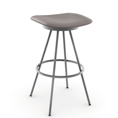 Beacon 26 Swivel Bar Stool Finish: Glossy Grey/Cold Grey