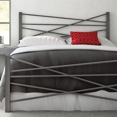 Crosston Open-Frame Headboard and Footboard Size: Full, Finish: Glossy Grey
