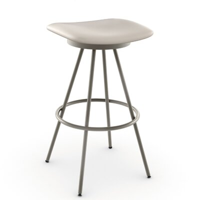 Beacon 26 Swivel Bar Stool Finish: Matte Light Grey/Beige