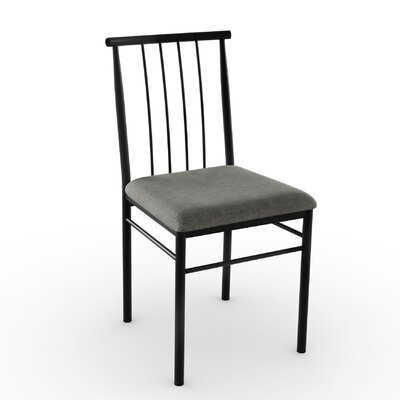 Alan Side Chair Finish: Textured Black/Medium Grey