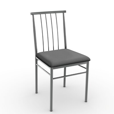 Alan Side Chair Finish: Glossy Grey/Matte Charcoal Black