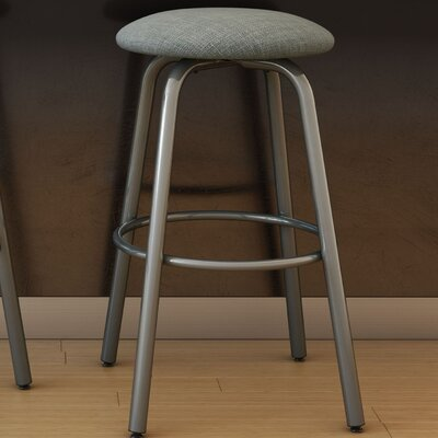 Log 27.38 inch Swivel Bar Stool Finish: Glossy Grey/Medium Grey