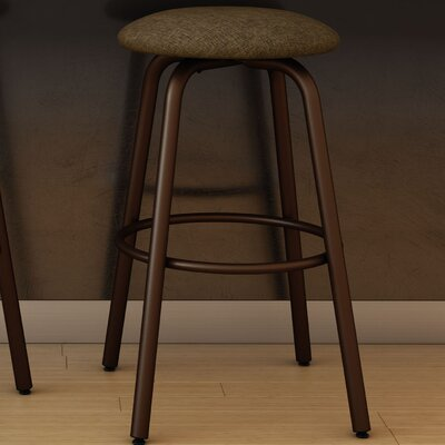 Log 27.38 Swivel Bar Stool Finish: Matte Medium Brown/Medium Brown