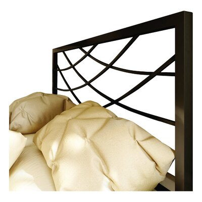 Altess Open-Frame Headboard Size: Queen, Color: Textured Black