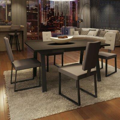 Amisco Drift 7 Piece Dining Set - Finish: Dark Brown / Gray Chocolote