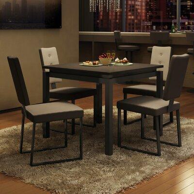 Amisco Cameron 5 Piece Dining Set - Finish: Dark Brown / Gray