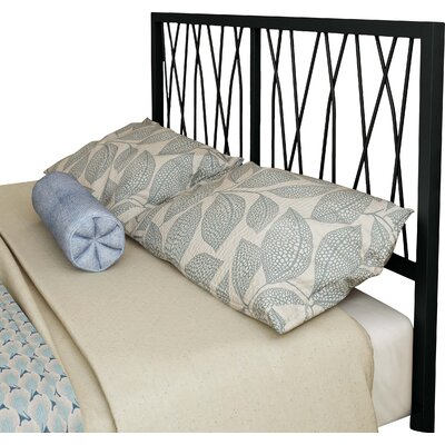 Ivy Open-Frame Headboard Size: Full, Color: Matte Medium Brown