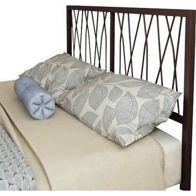 Ivy Open-Frame Headboard Size: Queen, Color: Matte Medium Brown