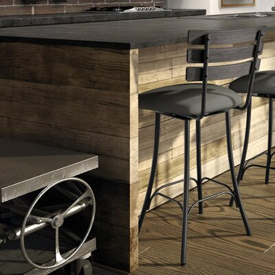 Rachelle 26.75 Industrial Swivel Bar Stool