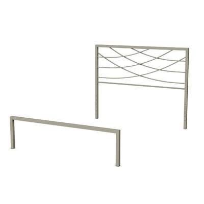 Altess Open-Frame Headboard and Footboard Size: Full, Finish: Matte Light Grey