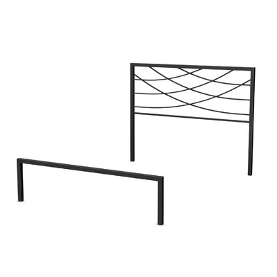 Altess Open-Frame Headboard and Footboard Size: Full, Finish: Textured Black
