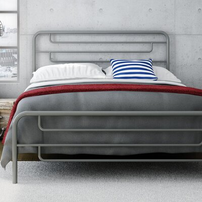 Pier Platform Bed Finish: Glossy Grey, Size: Queen