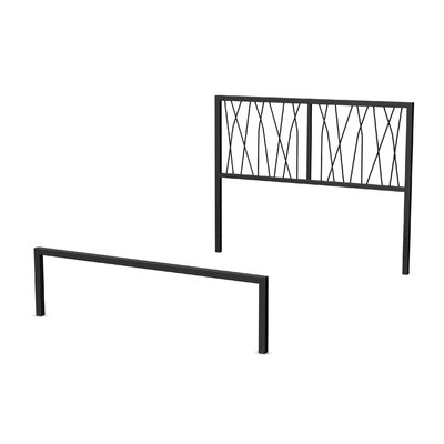 Ivy Open-Frame Headboard and Footboard Size: Full, Finish: Textured Black
