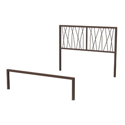 Ivy Open-Frame Headboard and Footboard Size: Full, Finish: Matte Medium Brown