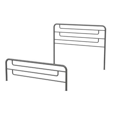 Pier Open-Frame Headboard and Footboard Size: Full, Finish: Glossy Grey