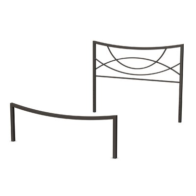 Equinox Open-Frame Headboard and Footboard Size: Full, Finish: Textured Dark Brown